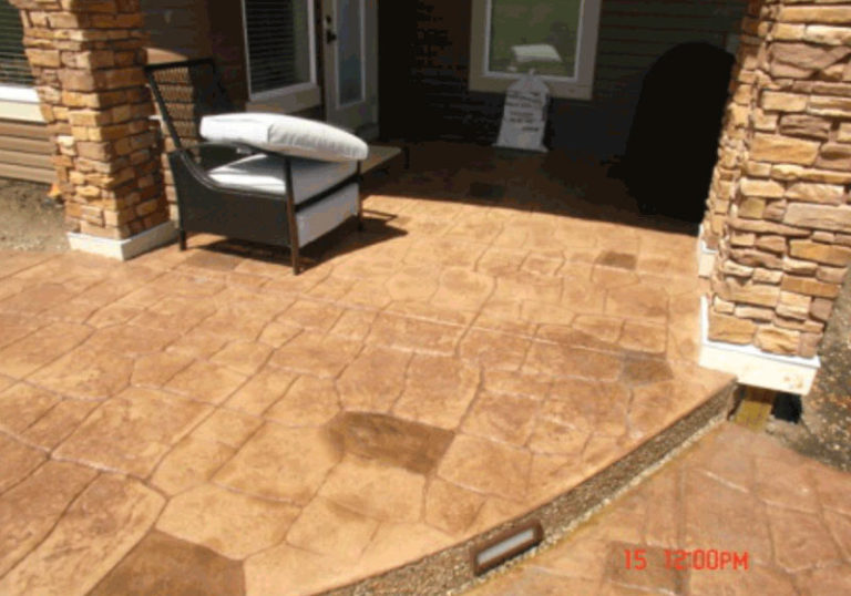 Concrete Service for Walkout Patio and Stairs