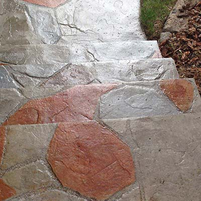Patio Sidewalk and Stairs