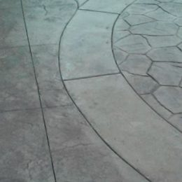 Stamped Patio with Borders